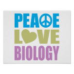 Biología del amor de la paz posters