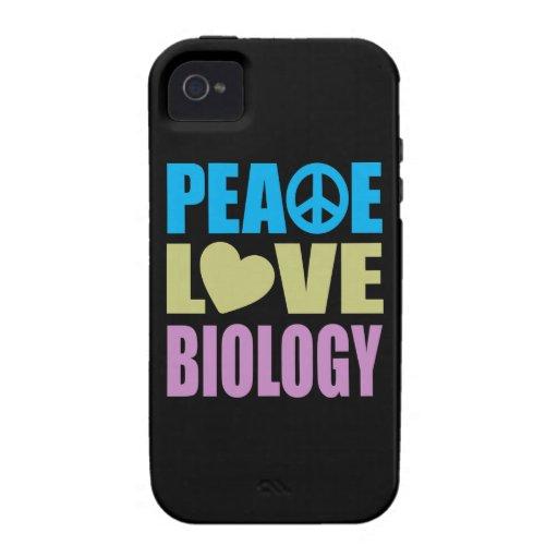 Biología del amor de la paz vibe iPhone 4 fundas