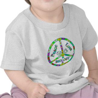 Biología del signo de la paz camisetas