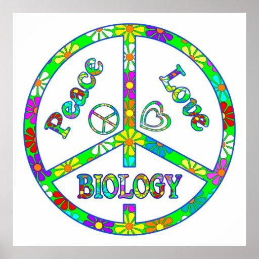 Biología del signo de la paz póster