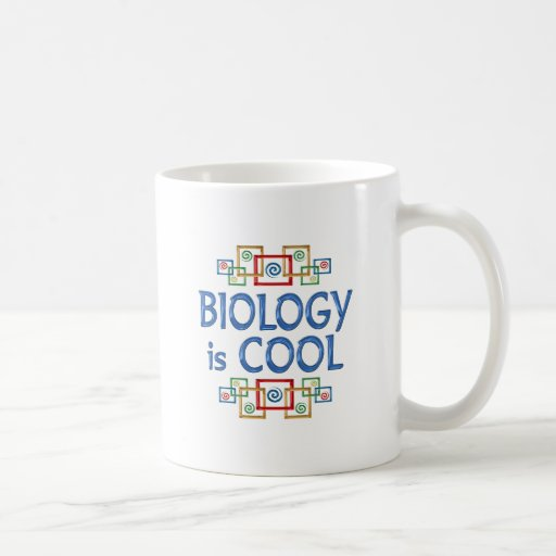 Biología fresca tazas de café