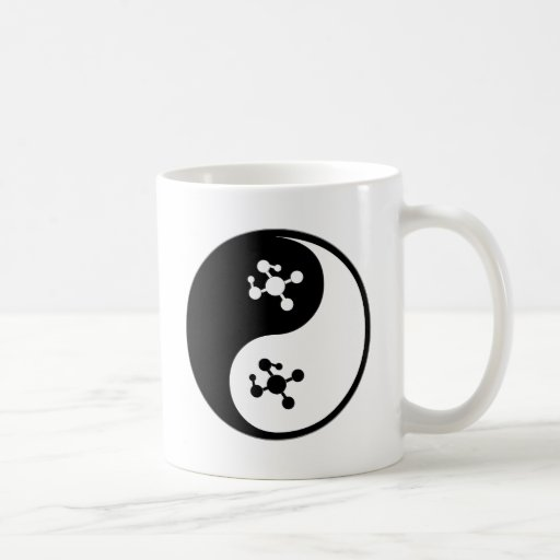 Biología molecular de Yin Yang Tazas De Café