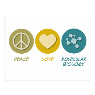 Biología molecular del amor de la paz postales