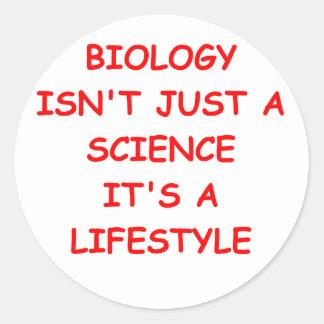 biología etiquetas redondas