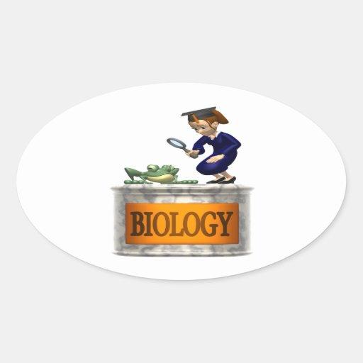 Biología Pegatina Ovalada