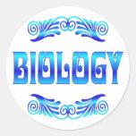 BIOLOGÍA PEGATINA REDONDA