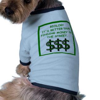 biología camiseta con mangas para perro