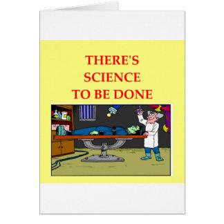 biología tarjeta