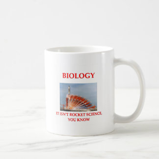biología taza básica blanca