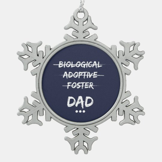 dad snowflake pewter christmas ornament - Dad Christmas Ornament