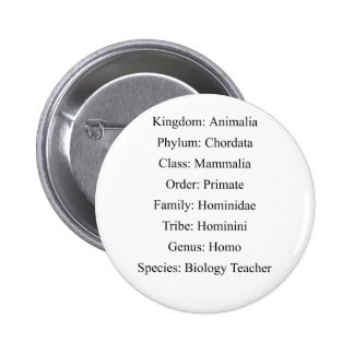 Biological Classification - Biology Teacher 2 Inch Round Button