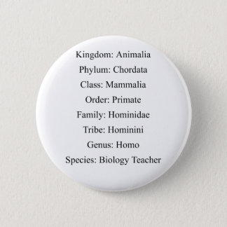 Biological Classification - Biology Teacher Button