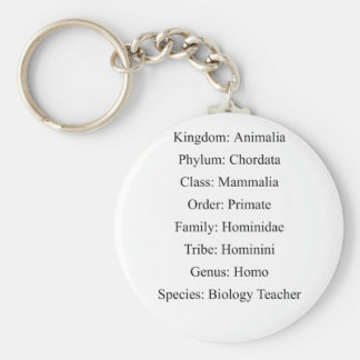 Biological Classification - Biology Teacher Keychain