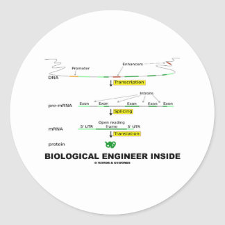Biological Engineer Inside Classic Round Sticker