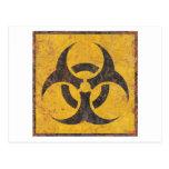 Biological Warning Sign Postcards