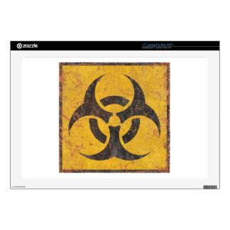 "Biological Warning Sign 17"" Laptop Decal"