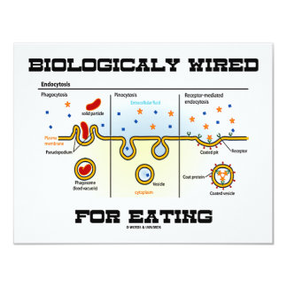 Biologically Wired For Eating (Endocytosis) Card