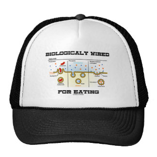 Biologically Wired For Eating (Endocytosis) Trucker Hat