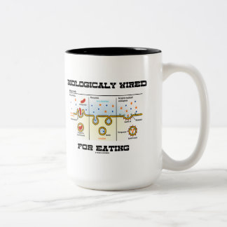 Biologically Wired For Eating (Endocytosis) Two-Tone Coffee Mug
