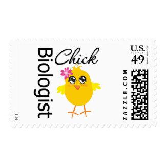 Biologist Chick Postage Stamps