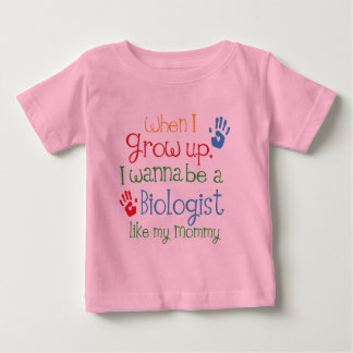 Biologist (Future) Like My Mommy Baby T-Shirt