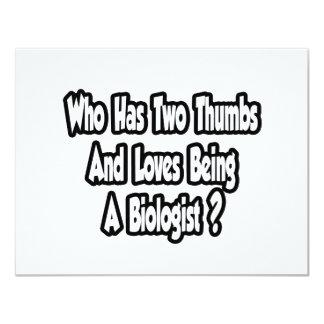 Biologist Joke...Two Thumbs Card