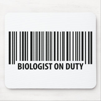 biologist on duty bar code icon mouse pad