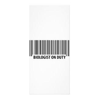 biologist on duty bar code icon rack card