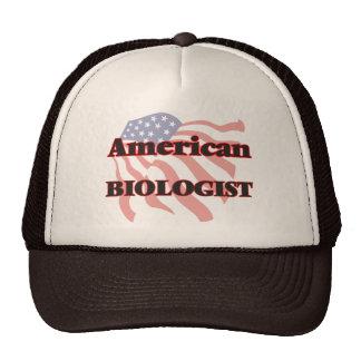 Biólogo americano gorros bordados