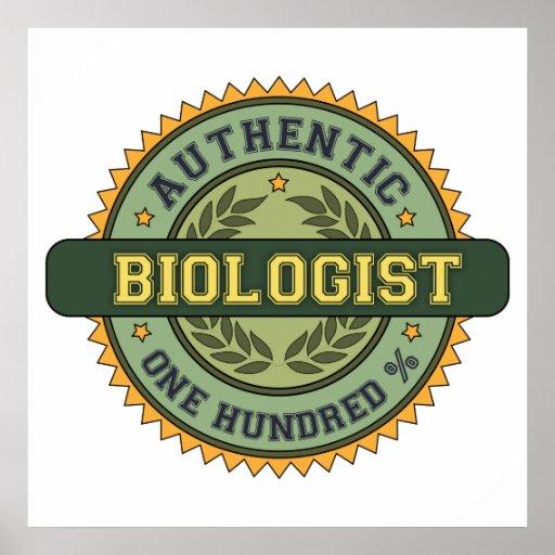 Biólogo auténtico impresiones