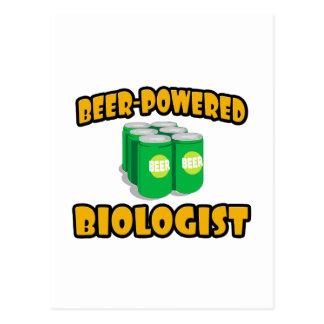 Biólogo Cerveza-Accionado Tarjeta Postal