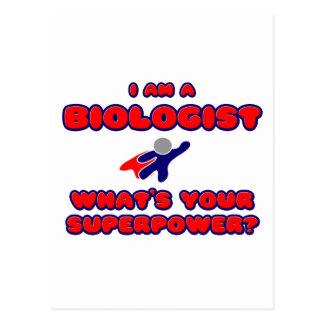 Biólogo. ¿Cuál es su superpotencia? Postal