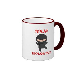 biólogo del ninja taza