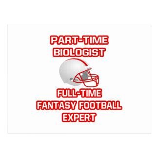 Biólogo. Experto del fútbol de la fantasía Postal