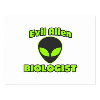 Biólogo extranjero malvado postales