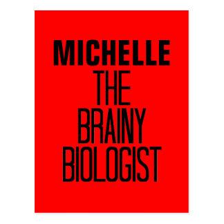 Biólogo inteligente tarjeta postal