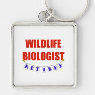 Biólogo jubilado de Widlife Llavero Cuadrado Plateado