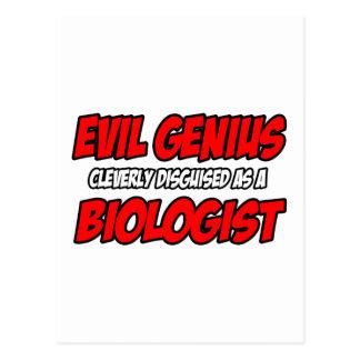 Biólogo malvado del genio… postal