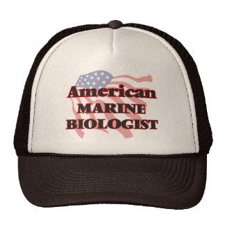 Biólogo marino americano gorro de camionero