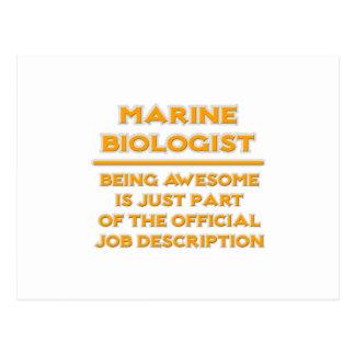 Biólogo marino impresionante. Descripción de las Postal