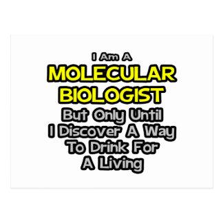 Biólogo molecular. Bebida para una vida Tarjeta Postal