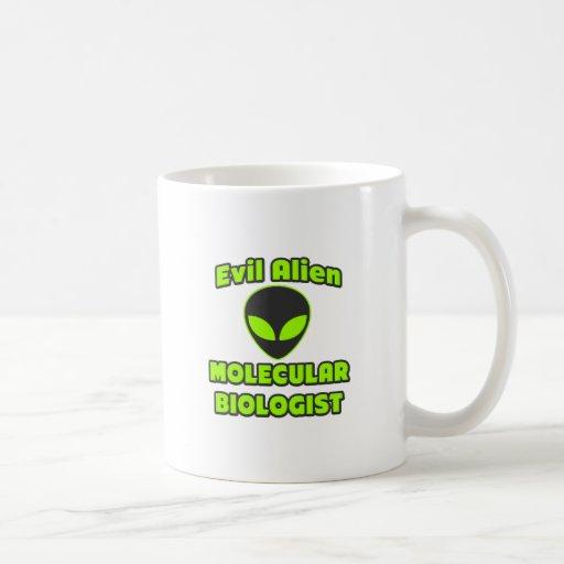 Biólogo molecular extranjero malvado taza de café