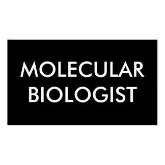biólogo molecular tarjetas de visita
