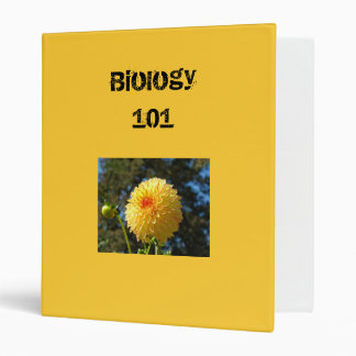 Biology 101 binder custom Orange Dahlia Flower