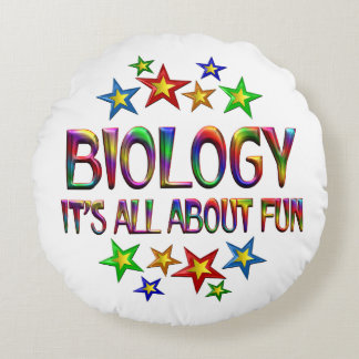 Biology About Fun Round Pillow