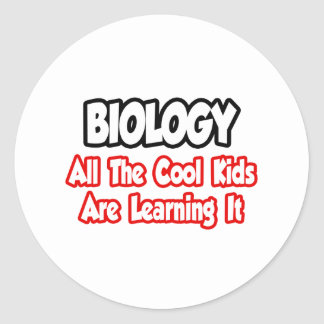 Biology...All The Cool Kids Classic Round Sticker