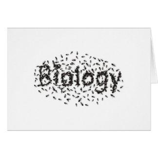 Biology Greeting Card
