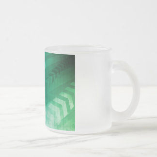 Biology Cells and Modern Medical Technology as Art Frosted Glass Coffee Mug