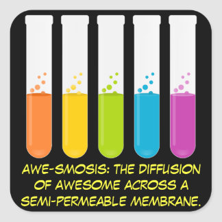 Biology & Chemistry Teachers: Science is Awesome Square Sticker