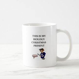 biology christmas joke classic white coffee mug